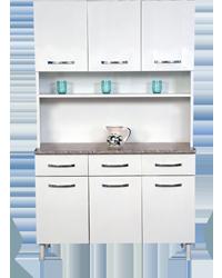 Armário de aço para cozinha cor branca